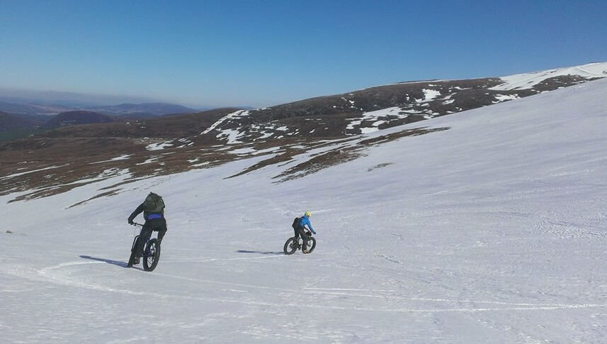 Fat biking snow scotland cairngorms